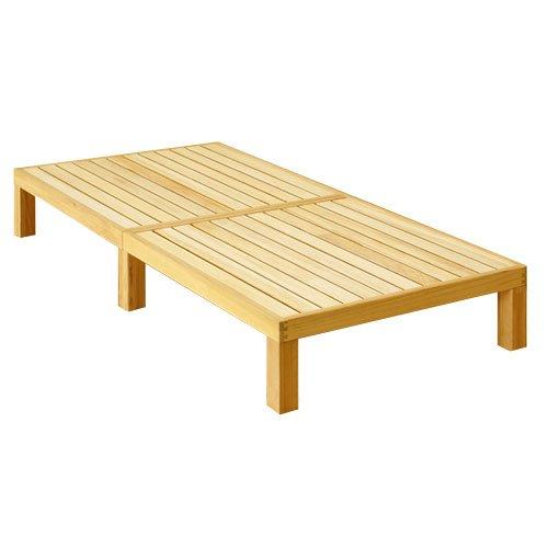 ぼん家具 日本製 すのこベッド 桐 ベッド ヘッドレス シングルベッド ベッドフレーム 天然木 寝具 フレーム シングル