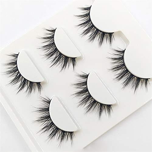 XUNUO 3D-09 Natural Tapered False Eyelashes Fashion Smoke Makeup False Eyelashes, Handmade Synthetic Fiber Material (Length : 1 box 3 pairs)