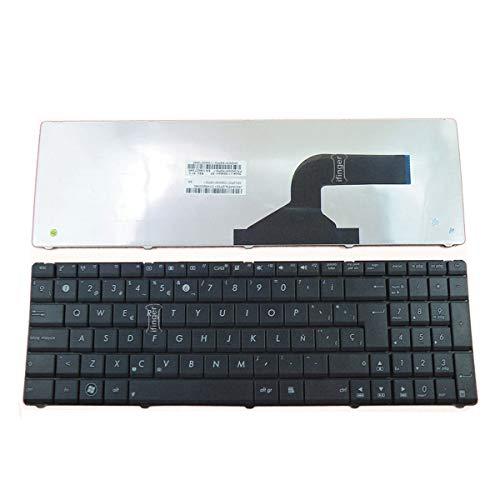 IFINGER Teclado Español Compatible con portátil ASUS X54C-SX412V MP-10A76E0-5281 Teclas Juntas EN Repuesto