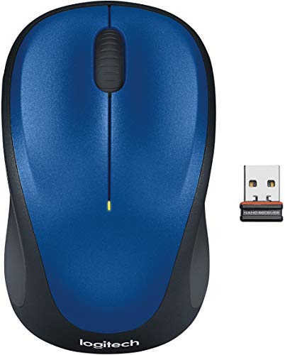 Logitech M235 Wireless Mouse for Windows, Mac and Linux - Blue