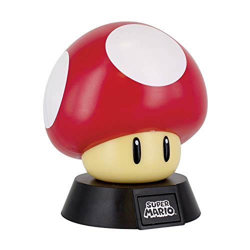 Paladone Super Mario Bros. Mushroom 3D Night Light, Decorative Lamp Collectible, Multi-Colour
