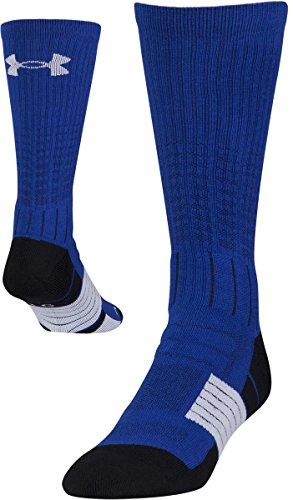 Under Armour pour Homme Incomparable Chaussettes Seule Paire, Homme, Bleu Roi/Blanc