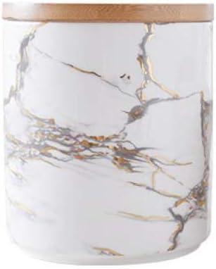 XUDREZ Limited price sale Marble Print Food 2021 model Storage Jar Seal W Lid Bamboo Airtight