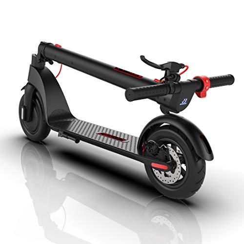 Nexity Monopattino Elettrico X7 Sonic 2021 | Batteria Rimovibile 6,4 Ah Giapponese | Motore 350W | Triplo Sistema Frenante | velocità Max 32 Km/h | Ruote Maggiorate...