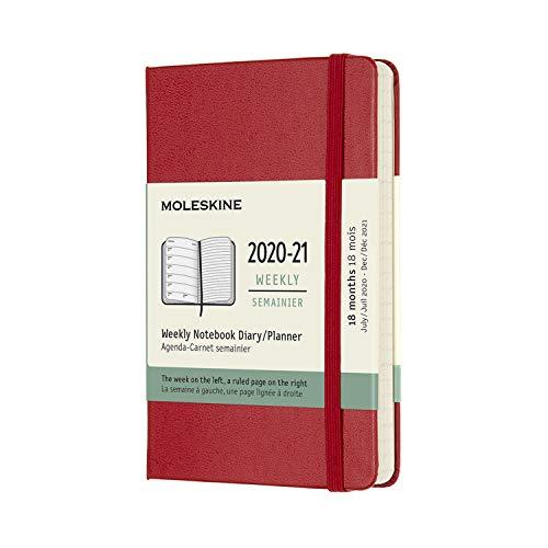 モレスキン 手帳 2020年7月始まり 18カ月 ウィークリーダイアリー ハードカバー ポケットサイズ スカーレットレッド DHF218WN2Y21