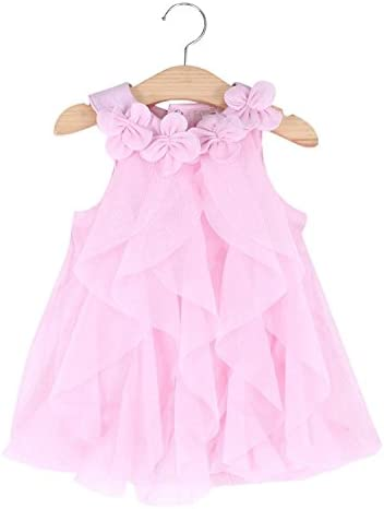 WZSYGDTC Baby Girl Birthday Dresses Rompers Christmas Formal Chiffon Jumpsuit Size 2T Pink 24M product image