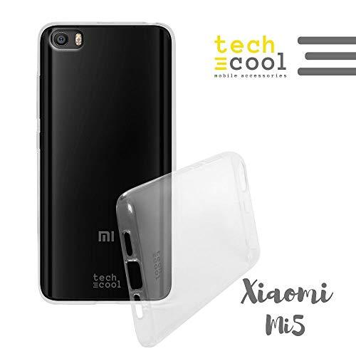 Cover Xiaomi MI5 Funnytech Custodia in Silicone (TPU) per Xiaomi MI5 Trasparénte l Flessible, Sottile (1,5mm spessore), Anti-urto. Di qualità che impedisce l'ingiallimento