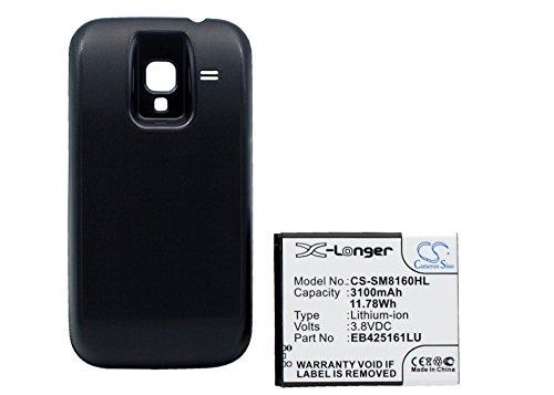 techgicoo 1200mAh/4,4wh recargable compatible con Samsung Galaxy Ace 2, GT-I8160, GT-I8160P, GT-S7562, Galaxy S Duos, GT-S7572, y otros