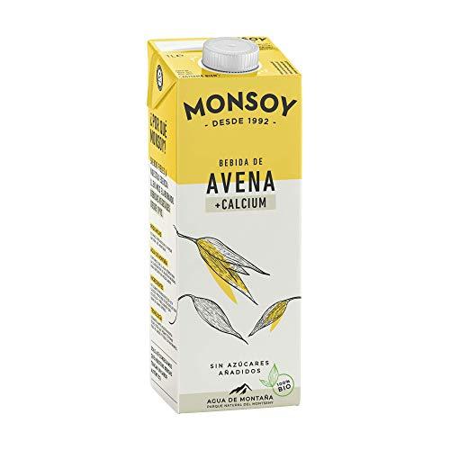 Monsoy - Bebida Ecológica de Avena con Calcio - Caja de 4 x 1L