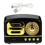 ibasenice Radio Vintage Retro Mini Altavoz Altavoz de Sonido Estéreo Portátil Inalámbrico Altavoz de Música Decorativa para La Oficina en Casa