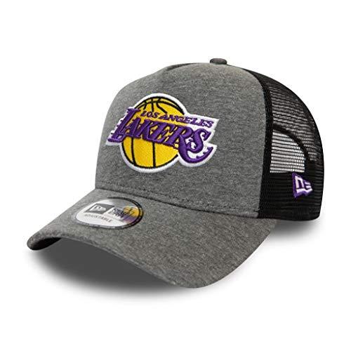 New Era Los Angeles Lakers Cap Trucker Kappe Jersey Mesh Basecap NBA Basketball Grau - One-Size