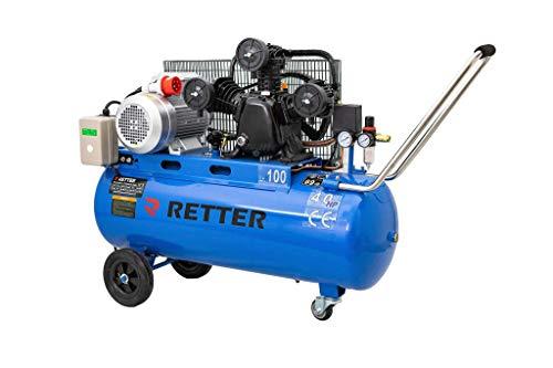 Kompressor 100l Druckluftkompressor 100L Kessel Doppel Riemenantrieb 400V RT 3100 Profi Industrie Aggregat