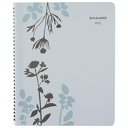 """AT-A-GLANCE Weekly / Monthly Appointment Book / Planner 2017, 8-1/2 x 11"""", Botanique (759-905)"""
