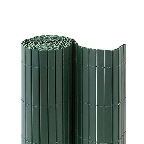 jarolift Premium Canniccio PVC per Giardino/Schermo divisore e Protettivo frangivista per Recinzione da Giardino 100 x 500 cm, Verde | Simile a RAL 6005