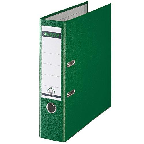 Leitz 10105055 Qualitäts-Ordner (Plastik-Cover, A4, 8 cm Rückenbreite) grün