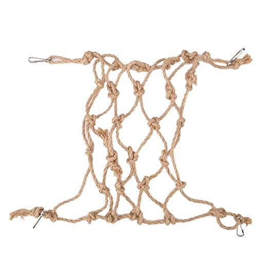 DOACT Cuerda de cáñamo, Loro, pájaro, Escalada, Red, Cuerda Colgante, Columpio, Juego,...
