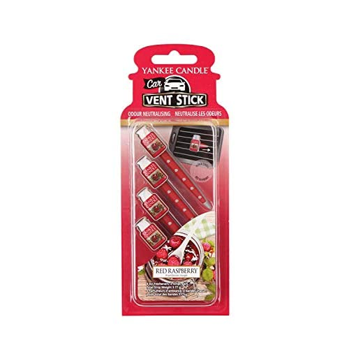 Yankee Candle Profumatore per Auto Car Vent Stick, Red Raspberry, 1