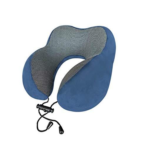 MSNLY Almohada en Forma de U Almohada de Viaje en avión Regalo Moda Creativa Almohada en Forma de U Almohada de Siesta en Forma de U Almohada para el Cuello (Azul)