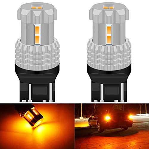 Excelente llevó la linterna Bombillas luz de niebla Diss Calor 2x CANBUS LED T20 7443 sin error 7440 W21 / 5W LED SRCK reversa de reserva de luz de circulación diurna Luces 6000K blanco naranja luces