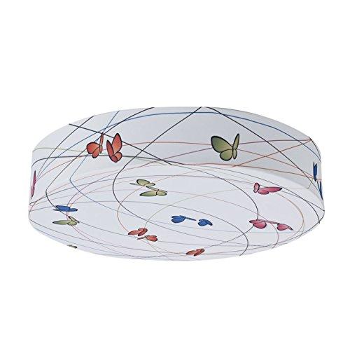 bainba plafondlamp/wandlamp, design vlinders E27, wit, 40 x 40 x 8 cm