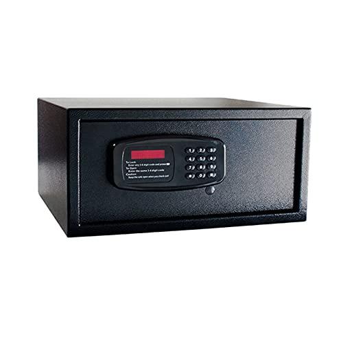 Totalmente De Acero Electrónico Contraseña Hotel Cajas Fuertes con Digital Teclado, Negro,Pared Y Suelo Instalación Fondeo Diseño 45 X 38 X 32 Cm