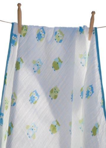 Angel Dear Soft Muslin Cotton Baby Napping Blankets (boy Owl)