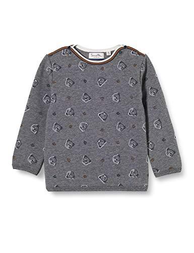 Sanetta Baby-Jungen FIFTSEVEN Dark Grey Mel. Sweatshirt, grau, 074