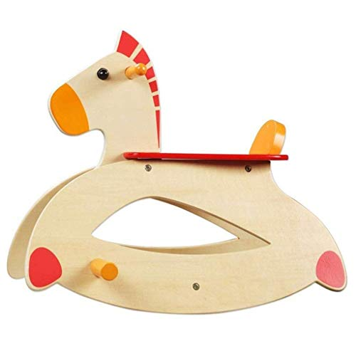 JWDYA Wooden Rocking Horse Rocking Chair, 1-3 Year Old Child Ride Toy, Rocking Animal for Girls and Boys Outdoors