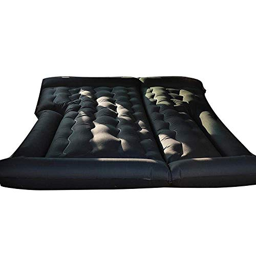 Colchón de aire de coche para SUV, almohadilla inflable para camping con bomba eléctrica engrosada, camioneta negra