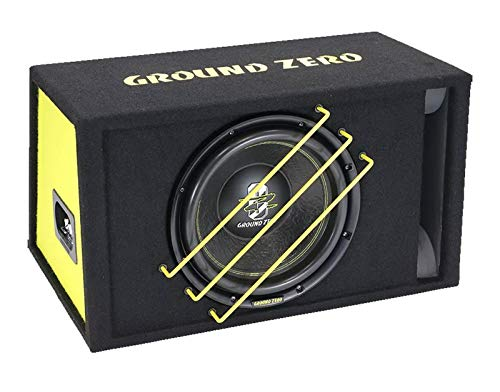 Ground Zero GZRB30SPL - 30cm SPL Subwoofer im Gehäuse - Gehäusesubwoofer, Passives Bassreflexgehäuse, Front Bassreflex-Tunnel, Holzgehäuse, 1350 Watt RMS Belastbarkeit, 2x2 Ohm
