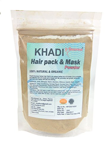 Khadi Hair Pack & Mask powder (100 Gms) Organic & No Chemicals