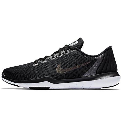 Nike Flex Supreme TR 5 Metallic, Scarpe da Campo e da Pista Donna, Nero Grigio Scuro, 37.5 EU