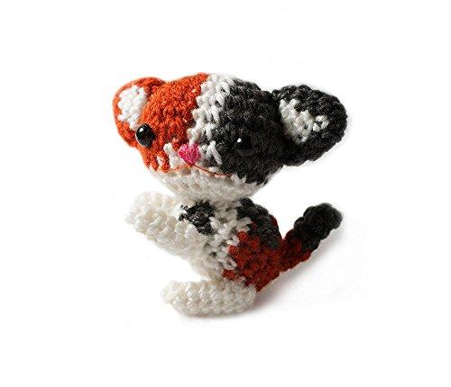 Vietsbay Tricolor Kittens Handmade Amigurumi Stuffed Toy Knit Crochet Doll VAC