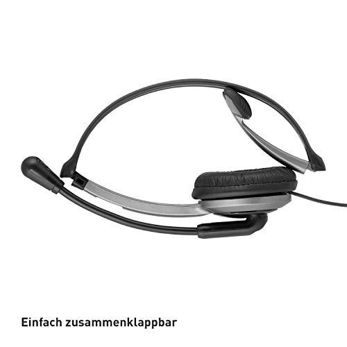 Panasonic KX-TGJ320GB Familien-Telefon mit Anrufbeantworter (schnurloses Telefon, strahlungsarm, Anrufschutz, DECT Basisstation, Freisprechen) schwarz & RP-TCA430E-S Headset für KX-TGxx Serie