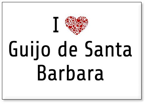 Mundus Souvenirs - Amo Guijo de Santa Barbara, Imán para Nevera (diseño 2)