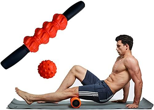 Masaje de espuma de espuma de rodillo de ejercicio Masaje de espuma de alta densidad Conjunto de rodillo de espuma portátil Rodillo de masaje de viaje portátil