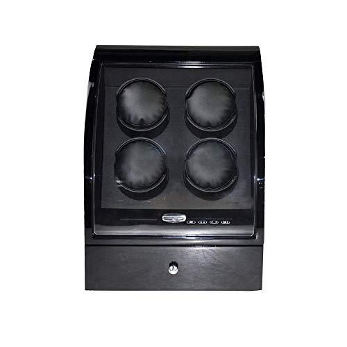 CCAN Caja de Enrollado de Reloj 4, con Caja de Almacenamiento con cajón, Pantalla táctil LED, Relojes de Almohadas Suaves y Flexibles para Relojes
