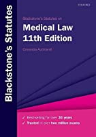 Blackstone's Statutes on Medical Law (Blackstone's Statute Series)