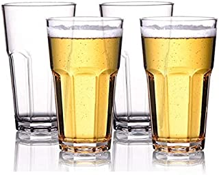 Ash & Roh® Water Glasses Tumbler Drinking Glasses for Juice Beer and Cocktail, Dishwasher Safe- 400 ml (4)