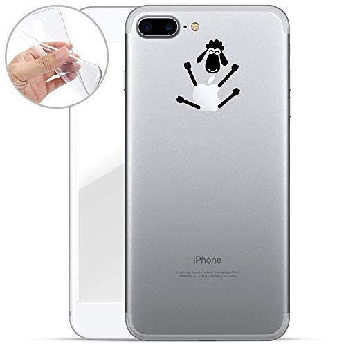 Finoo Handyhülle kompatibel für iPhone 7 Plus / 8 Plus - Hülle mit Motiv & Optimalen Schutz TPU Silikon Tasche Hülle Cover Schutzhülle - Schaf