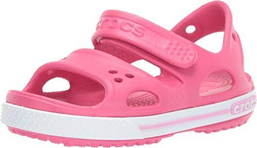 Crocs Crocband II Sandal, Sandalias Unisex niños, Paradise Pink/Carnation, 22/23 EU