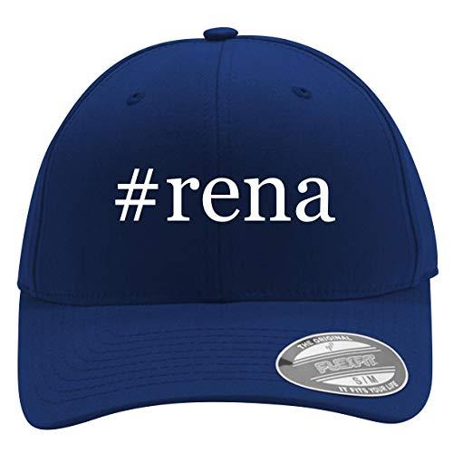 #rena - Men's Hashtag Flexfit Baseball Cap Hat, Blue, Small/Medium
