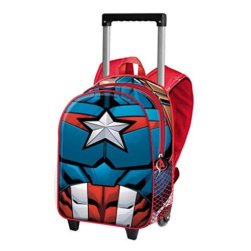 Karactermania Capitán América Civil War - Mochila Basic con Carro, Negro