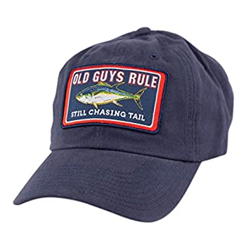 OLD GUYS RULE Hat Baseball Cap for Men | Still Chasing Tail | for Dad Husband Grandfather | Navy