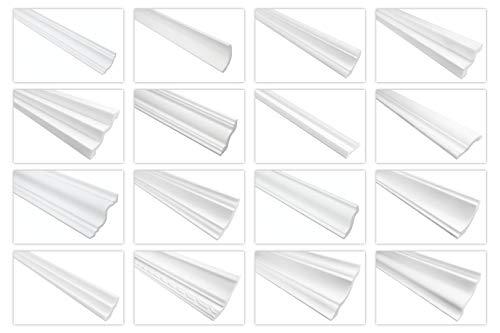 Decora Stuckleisten aus Styropor XPS - Profile für Wand und Decke, modern, robust, weiß - (DO45-45x45mm) Zierleiste Eckleiste Flachleiste Stuck