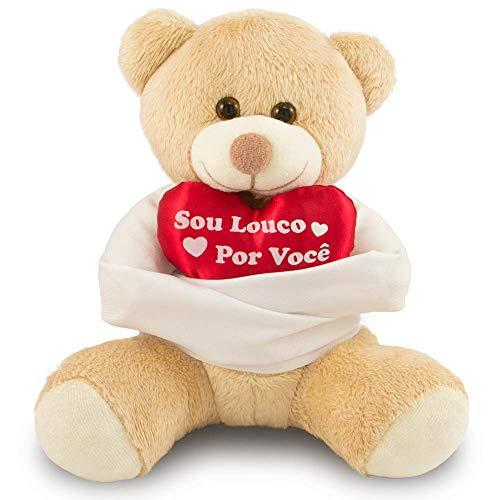 Urso de Pelúcia Louco Por Você 25cm Anti-alérgico