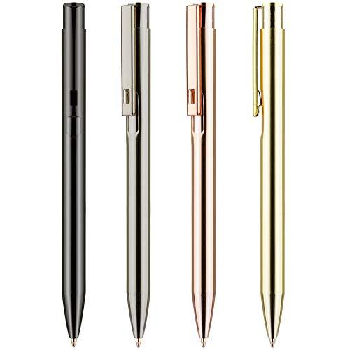 50 Stück goldener Metall Kugelschreiber ARCHEE Werbekugelschreiber mit Gravur Logo
