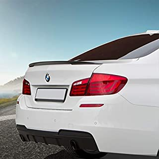 BMW Carbon Fiber Spoiler, Carbon Fiber Trunk Spoiler, Fits 2012-2017 BMW 5 Series F10 | M5 528i 535i 550i 530i 530e 540i 540d M550i Carbon Fiber Rear Tail Lip Deck Boot Wing, BMW 5 Series Sedan