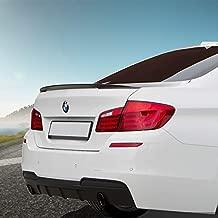 BMW Carbon Fiber Spoiler, Carbon Fiber Trunk Spoiler, Fits 2012-2017 BMW 5 Series F10 | M5 528i 535i 550i 530i 530e 540i 540d M550i Carbon Fiber Rear Tail Lip Deck Boot Wing, BMW 5 Series Sedan