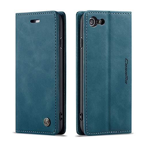 ZTUOK - Funda de piel tipo cartera para iPhone 6/6s, con función atril y tarjetero, cierre magnético, plegable, con tapa para iPhone 6/6s